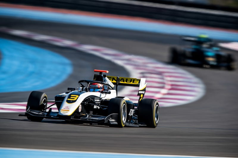 Lundgaard in F3 action at Paul Ricard