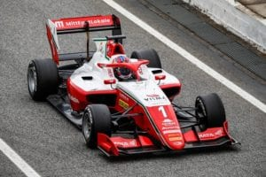 Dennis Hauger in his Prema F3 car